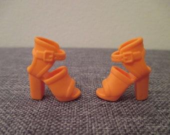 Barbie®accessory orange high heel sandals shoes fashionista add on