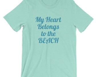 My Heart Belongs to the Beach Short-Sleeve Unisex T-Shirt