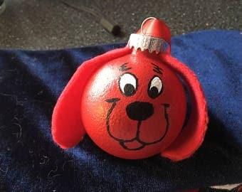 Clifford the big red dog Hand-Painted Ornament