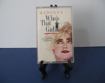 Madonna - Who's That Girl - Soundtrack - Circa 1987 - Cassette  Tape