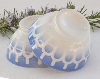 Lot de deux petits bols à café au lait  Digoin Sarreguemines bleu French vintage Shabby chic, Brocante française