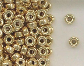 14K Gold Filled 6mm Plain Round Tire Spacer Beads, Choice of Lot Size & Quantity