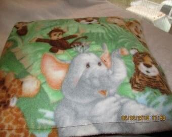 Zoo Animals Blanket! With minky on back!