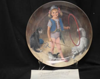 John Mclleland  Reco Maggie the Animal Trainer Collector Plate  1982