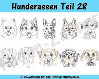 Dog breeds part 28 - embroidery-set for the border 10x10cm