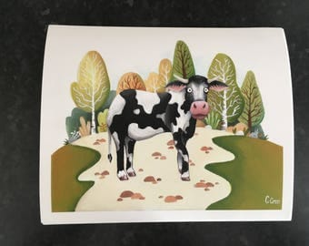 Charlie the Cow print