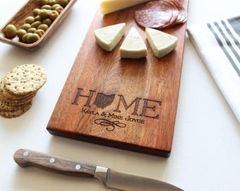 Personalized Cheese Board, Custom Name, Home Decor, Christmas Gift, Wedding, Anniversary, Personalized Womens, Gift For Her, Wooden Serving