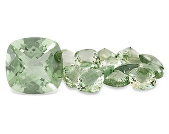 8mm Natural genuine GREEN AMETHYST square cushion CHECKER board faceted gemstone...