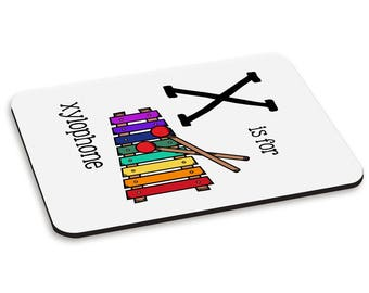 Letter X Is For Xylophone PC Computer Mouse Mat Pad