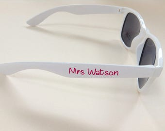 Personalised Wedding and Hen Party Sunglasses - Many colours and designs