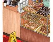 "Donut Shop – 4""x4"" PRINT"
