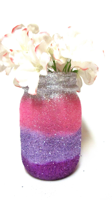 Unicorn Centerpieces Glitter Mason Jars Pick your size and colors ...