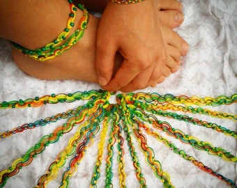 Rainbow Bracelets and Anklets