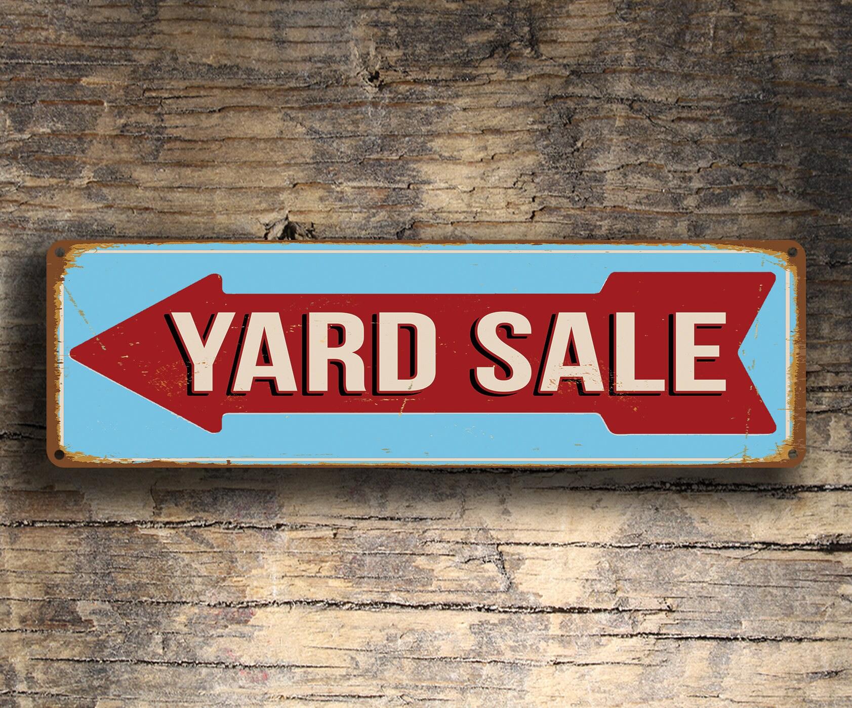 yard sale sign yard sale directional sign yard sale arrow sign