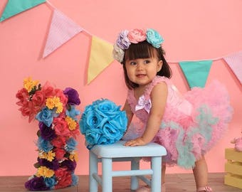 Flower crown baby adult hand made flowers you choose your favorite colors