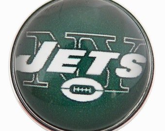 C0231  Art Glass Print Chunk - NY Jets