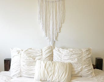 Boho Wall Hanging- Boho Chic Decor - Boho Tapestry - Dream Altar - Yarn Wall Hanging - Yarn Tapestry
