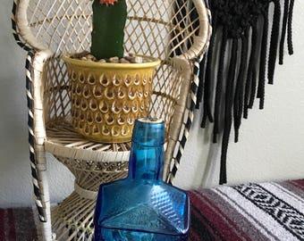 Vintage Collectable Blue Glass Wheaton Paul Revere Bottle