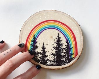 Rainbow Pine Original Illustration
