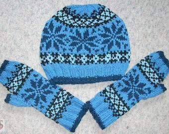 Norwegians set - hat and gloves