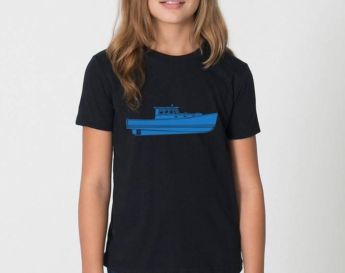 KillerBeeMoto: Vintage Lobster Boat On Short Or Long Sleeve T-Shirt