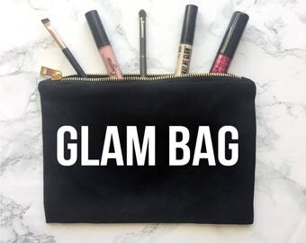 Glam Bag, Makeup Bag, Gift for her, Gift for Mom, Christmas Gift, Makeup bag, Wife Mom Boss, Chaos Coordinator
