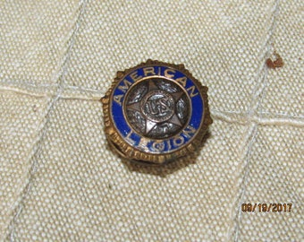 Vintage 1919 U.S. American Legion Screw Back Lapel Pin