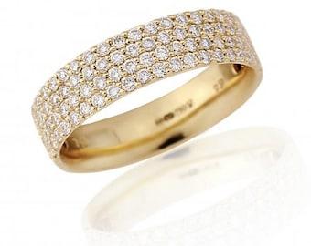Diamond Yellow 18ct Gold Eternity Ring