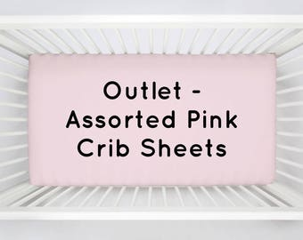 OUTLET 4-Pack of Assorted Baby Girl Pink Crib Sheets by Carousel Designs