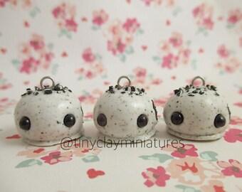 Kawaii oreo truffle polymer clay miniature charm