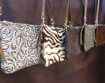 Handmade Genuine leather Crossbody, Leather Purse, Leather Bag, Soft Leather bag, women Handbags, made in USA, With Zipper, leather handbags