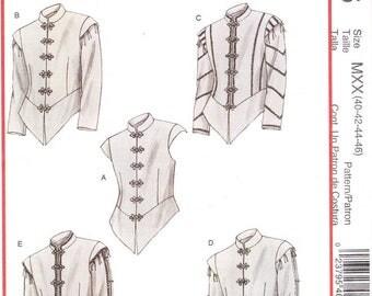 McCall's 4695 Men's Renaissance Doublets Sewing Pattern, 40-46