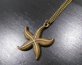 Bronze starfish on a bronze chain