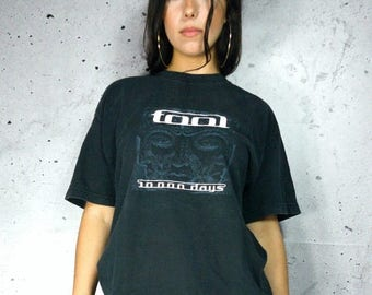 On Sale Tool Band Tee Shirt Retro Hard Rock Alternative Rock Band Shirt Band Tour Shirt Tool 10000 Days Tee FREE SHIPPING
