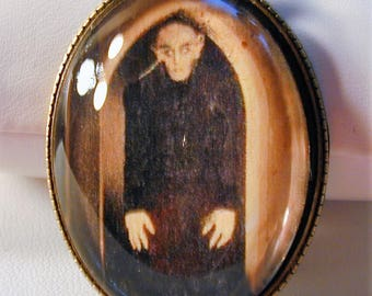 Goth 1922 Nosferatu Movie Still Necklace