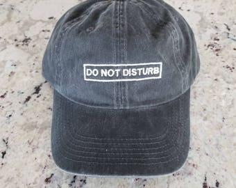 Do Not Disturb Adjustable Baseball Cap Garment Washed, Baseball Hat