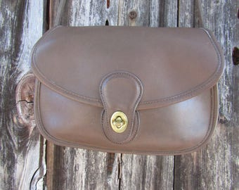 "Coach ~ Prairie Bag ~ Taupe ~ Brown ~ Vintage ~ Recycled ~ Mint ~ Glove Tanned ~ Velvet ~ Medium Size ~ 10"" X 8"" X 3"""