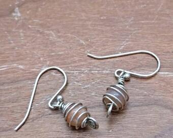 Moonstone earrings Sterling Silver.