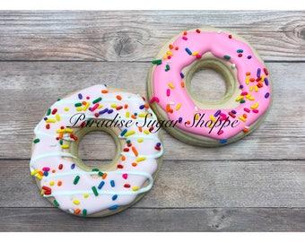 Donut Decorated Cookies - 1 dozen