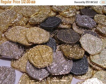 10% off July 4th A Dozen Atocha Pirate Treasure Gold and Silver Coins Pirate Booty loot You can CHOOSE the coins