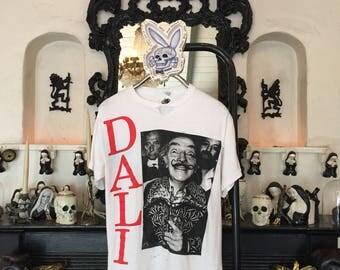 Salvador Dali shirt 1980s vintage t shirt artist t-shirt surrealist master painter t-shirt 80s Rotschild tee distress punk teeshirt dada