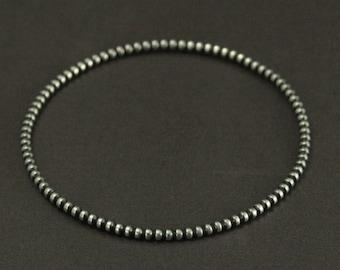 Beaded Bangle--Sterling Silver Bangle Bracelet--Bubble Bracelet--Silver Bracelet--Stackable Bracelet--Stackable Bangle--Layered Bangle