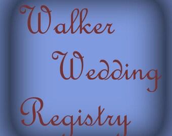 Oil/ Vinegar Bottles Walker Registry