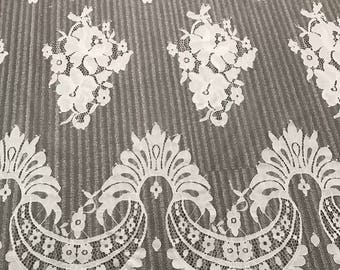 Chantilly Eyelash Lace Trim, Chantilly Lace Fabric, 59 inches Wide for Veil, Dress, Costume, Craft Making,