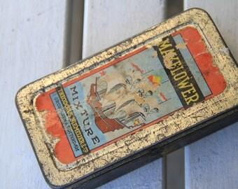 Old tobacco box metal box