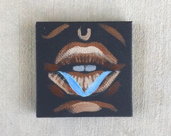 Lip Study Mini Painting