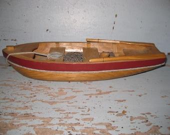 Vintage Wooden Toy Decorator Boat