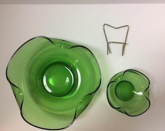 Modern Accent 3 piece Chip & Dip Set - Spearmint Green