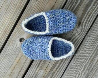 Crochet womens house slippers chunky fuzzy ultra soft handmade crochet slippers