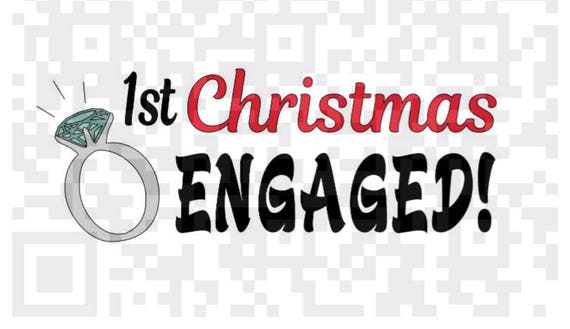 First Christmas Engaged PNG, 1st Christmas Engaged PNG, Engagement Digital Cutting File, Png, JPEG, Cricut, Svg, Print File, Christmas